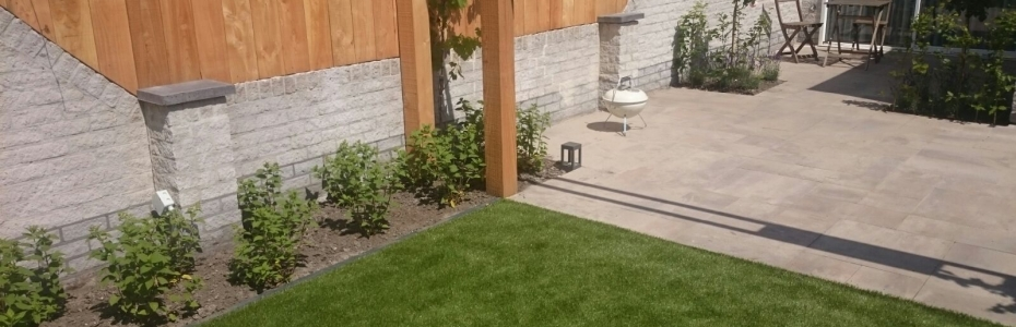 Zonnige moderne tuin van der linden hoveniers veenendaal for Zonnige tuin